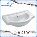 Semi-Recessed Bathroom Ceramic Cabinet Basin Hand Washing Sink (ACB4180)
