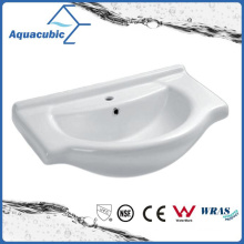 Semi-Recessed Bathroom Ceramic Cabinet Basin Hand Washing Sink (ACB4180)