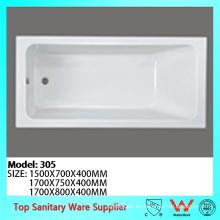 Bañera de baño plástica acrílica barata vendedora con precios