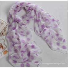 Multicolor Silber Georgette Frauen Fashion Design Hochwertige Seide Schal Schal