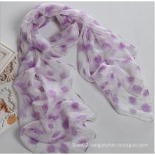 Multicolor Silver Georgette Women Fashion Design High Quality Silk Scarf Shawl