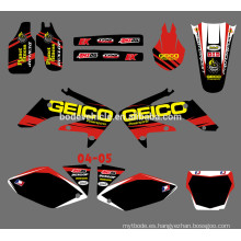 Mini moto decalque / Dirt Bike Decal / Motocicleta / motocross calcomanía para honda Motocicleta 2004-2005 CRF250R CRF250 (DST0012)