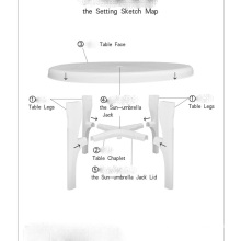 Molde de mesa de plástico ao ar livre (YS99)
