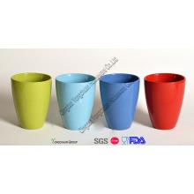 Decoração cerâmica colorido vasos de plantas vidradas conjunto