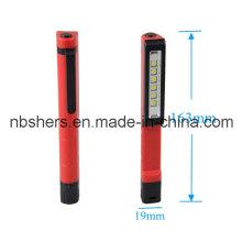 6 SMD LED Pen Trabajo de luz de trabajo de bolsillo de luz Rotating magnético Clip