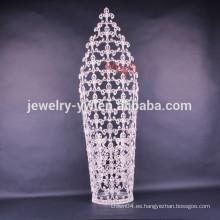 Venta al por mayor nueva tiaras altas grandes de la corona del desfile del diseño de la manera para la venta