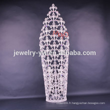 Vente en gros de nouveaux designs de mode grande taille de tiaras de courtier à vendre