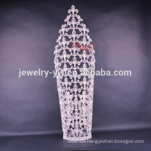 wholesale new fashion design large tall pageant crown tiaras for sale