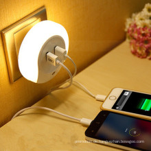 USB Socketcharger Sensor Nachtlicht