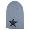 Mens Unisex Soft Stretch Winter Knitted Double Layer Slouch Hip-Pop Star Embroidery Warm Cap Beanie Hat (HW136)