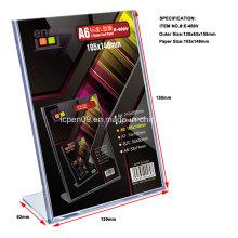 Suporte plástico vertical do cartão de Displayer da propaganda com produção da modelagem por injecção
