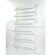 Metal door hang shoe rack with plastic frame and over door shoes rack