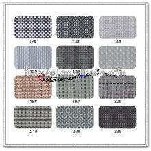 T087 mantel / coaster / tapete de la armadura del tono del gris del PVC T087