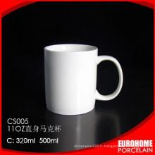 nouveau design en porcelaine gros stock en porcelaine tasse eau de voyage