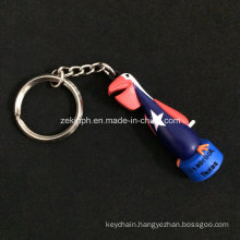 Customized Bird Shaped 3D Rubber Key Chain as Promotional Gifts