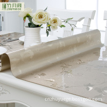 New Designs Restaurant Table Cloth/Heat Resistant Soft PVC Film Printed Peony