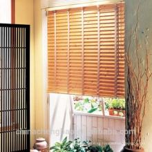 Diseño natural del hogar persianas de ventana de madera material