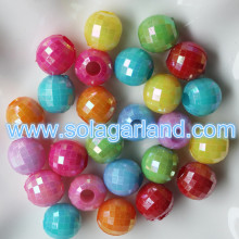 13 мм граненый диско шар AB покрытием пластиковых круглых бусин глобальный
