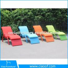Cadeira de sala de estar de vime da piscina do Rattan / espreguiçadeira de Sun da praia