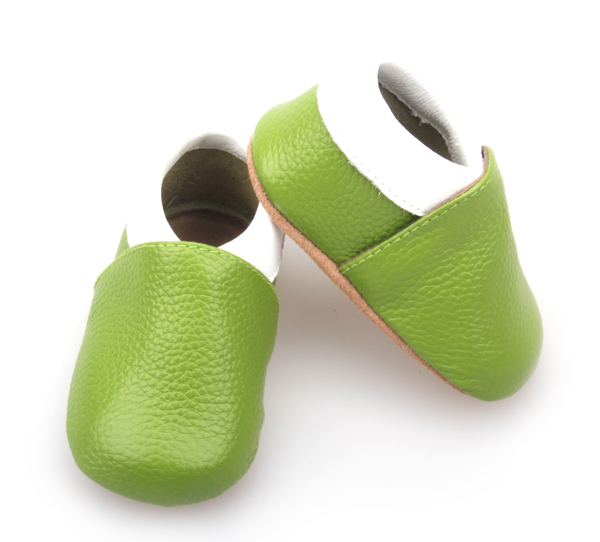 Baby Golf Shoes Green Leather Infant Soft Shoes Wholesale