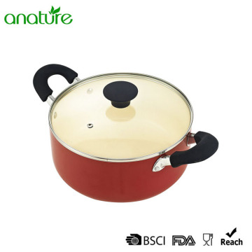 Supply for Pressed Aluminum Cookware Bakelite Handle Ceramic Coating Casserole With Lid export to Austria Exporter