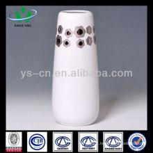 White Vase With Flower Decor,Decorative Ceramic Vases For Wedding