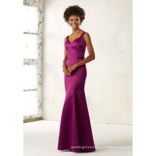 Фиолетовый Атласная Русалка Платье Невесты