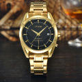 Black white dial gold stainless steel watches