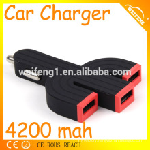 High-end rapid dual car charger with micro usb car prices turkey