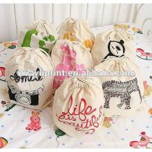 Algodão Drawstring Bag & Drawstring algodão & Reutilizáveis Gift Drawstring Bag