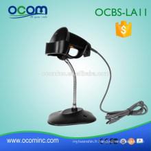 OCBS-LA11 ------ Scanner / lecteur de code à barres laser USB portatif filaire