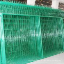 Pvc verde revestido de malla de alambre soldado cerca