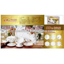 61pcs 60pcs commercial Une vaisselle royale de haute qualité de table de vaisselle doulton royale