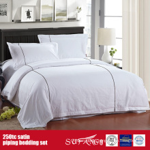 250TC Satin Piping Luxury Hotel Linen Quality Bed Linen