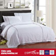 Roupa de cama da qualidade do linho do hotel luxuoso do tubo 250TC Satin