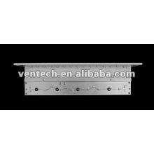 amortecedor de lâminas opostas de ventilação