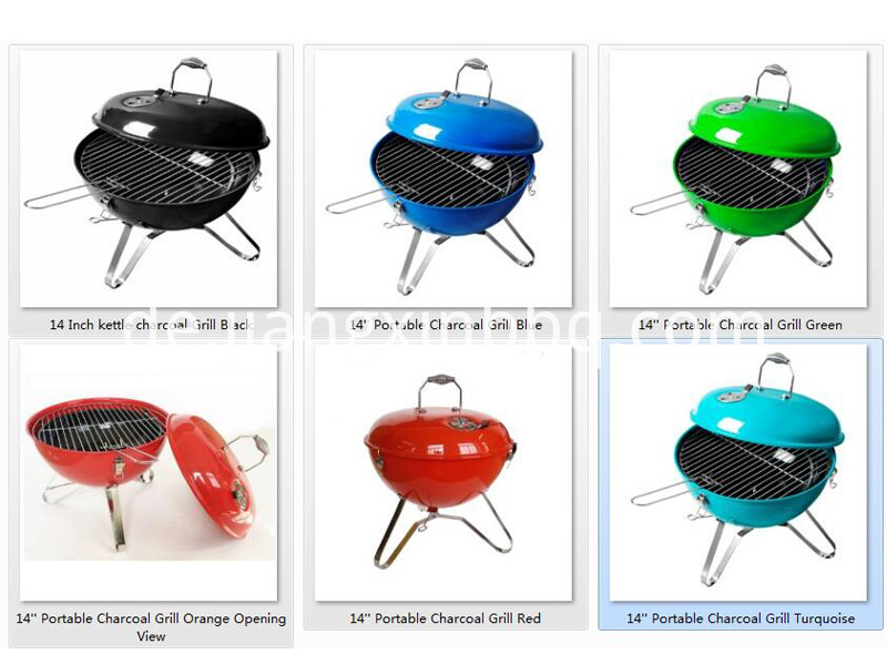 14'' Portable Charcoal Grill with Multi-colors