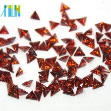 glamour CZ trillón corte triángulo rectángulo piedras sintéticas precio zirconia cúbica