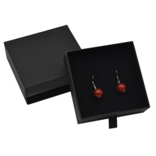 Drawer Black Paper Jewelry Earring Box Packaging