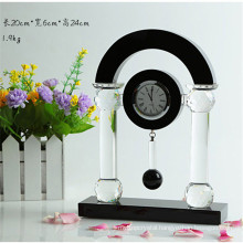 black Crystal Clock For Desk Decoration Or Gifts