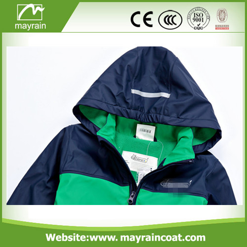 High Quality PU Raincoat for Kids
