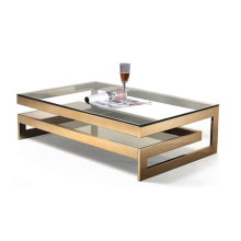 Double Square Coffee Table with  Fiberglass