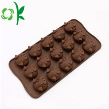 Chocolate Silicone Lattice Pig Popsicl Moldes de doces de Natal