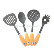 Juego de utensilios de cocina de nylon Juego de utensilios de cocina de cuchara para espátula