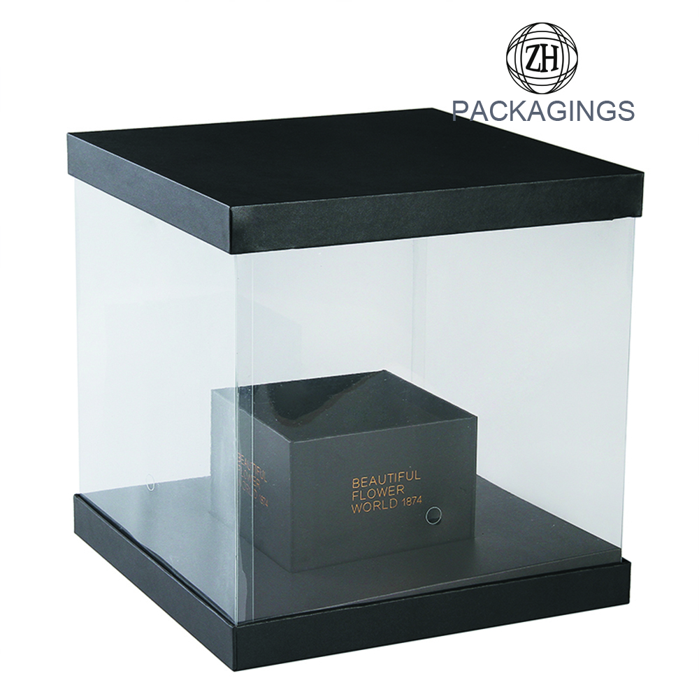 Transparent PVC Flower Boxes Packaging