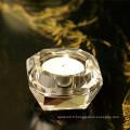 Bougeoir en verre de cristal de forme diverse pour la décoration de cadeau