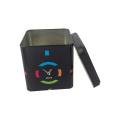Round Tea Tin Box with Paper Sticker Customized Tin Box