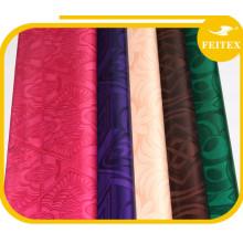 Tela africana del algodón del telar jacquar de la ropa del damasco del riche de Bazin al por mayor