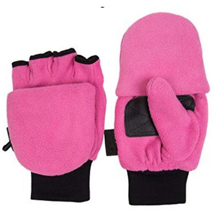 Pink Fleece Gloves