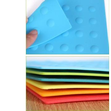 Blue Pot Coaster Heat Resistance Silicone Table Pad